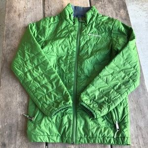 Columbia Omni Heat Green Quilted Jacket Size M 10